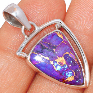 Copper Purple Turquoise - Arizona  Sterling Silver Pendant XGB  BP43375