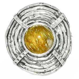 Golden Rutile - Brazil 925 Sterling Silver Ring XGB Jewelry s.6.5 BR30824 240G