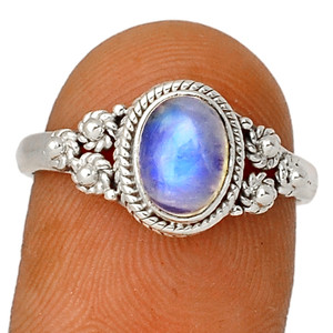 Moonstone - India 925 Sterling Silver XGB Jewelry Ring s.8.5 BR37142 235F