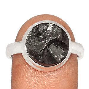 Russian Elite Shungite 925 Sterling Silver Ring XGB Jewelry s.9 BR43230