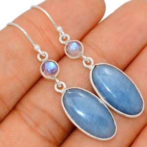 Angelite - Peru & Moonstone 925 Sterling Silver Earring XGB Jewelry BE23205