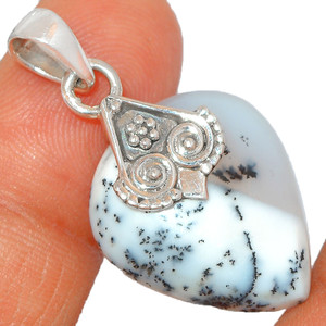 Merlinite Dendritic Opal - Turkey 925 Silver Pendant XGB Jewelry BP43641 299G