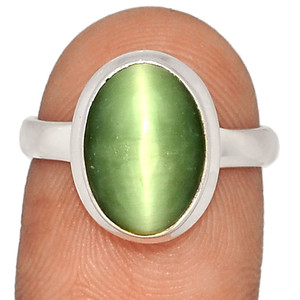 Cat's Eye 925 Sterling Silver Ring XGB-Jewelry s.7 BR41595