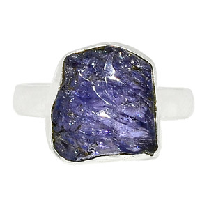 Tanzanite Crystal - Tanzania 925 Sterling Silver Ring XGB-Jewelry s.6.5 BR41677