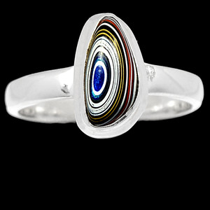 Fordite Detroit Agate 925 Sterling Silver Ring Jewelry s.6 BR40683