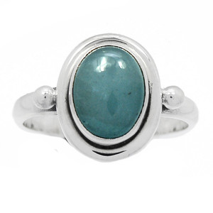 Aquamarine - Brazil 925 Sterling Silver Ring Jewelry s.6 BR41031