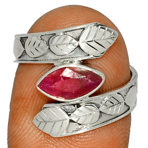 Ruby - India 925 Sterling Silver Ring Jewelry s.7.5 BR39851 297G