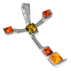 4g Authentic Baltic Amber 925 Sterling Silver Pendant Jewelry A294