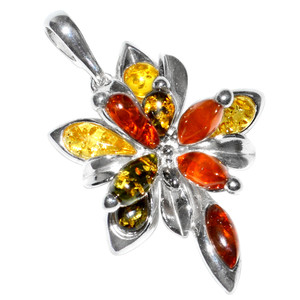 6.5g Authentic Baltic Amber 925 Sterling Silver Pendant Jewelry A297