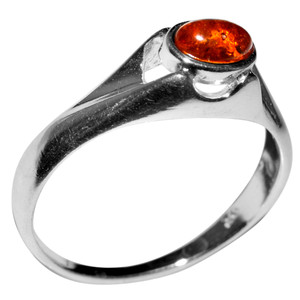 2.47g Authentic Baltic Amber 925 Sterling Silver Ring Jewelry s.6 A7322S6