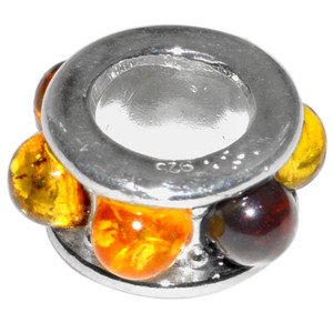 2.3g Authentic Baltic Amber 925 Sterling Silver Pendant Jewelry A482