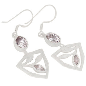 Crystal 925 Sterling Silver Earrings Jewelry E2180WT