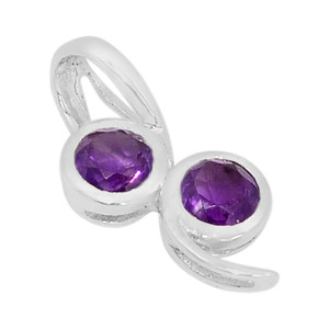 Amethyst 925 Sterling Silver Pendant Jewelry P1436A