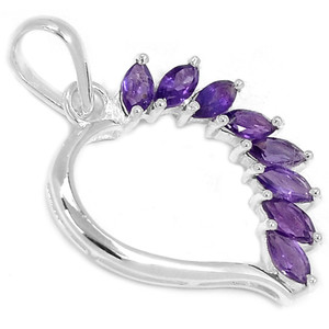 Amethyst 925 Sterling Silver Pendant Jewelry P1379A