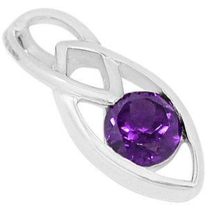 Amethyst 925 Sterling Silver Pendant Jewelry P1443A