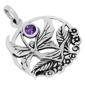 SSS Amethyst 925 Sterling Silver Pendant Jewelry P1448A