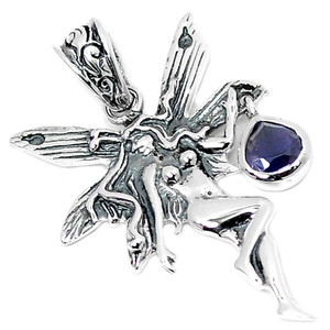 Iolite 925 Sterling Silver Pendant Jewelry P1450I
