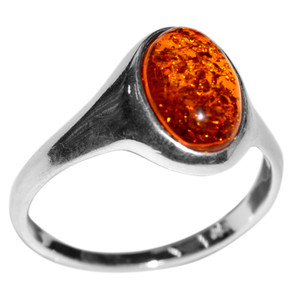 2.97g Authentic Baltic Amber 925 Sterling Silver Ring Jewelry s.6 A7192S6