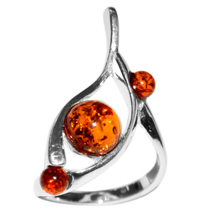 4g Authentic Baltic Amber 925 Sterling Silver Ring Jewelry s.10 A7444S10