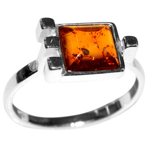 2.8g Authentic Baltic Amber 925 Sterling Silver Ring Jewelry s.7 A7416S7