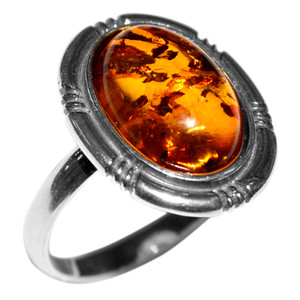 3.4g Authentic Baltic Amber 925 Sterling Silver Ring Jewelry s.7 A7079S7