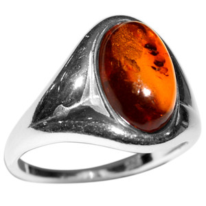 2.74g Authentic Baltic Amber 925 Sterling Silver Ring Jewelry s.5 A7124S5
