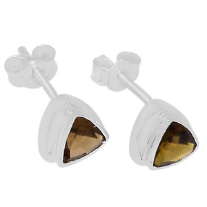 Smokey Quartz 925 Sterling Silver Earrings Jewelry E2207S