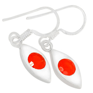 Carnelian 925 Sterling Silver Earrings Jewelry E2234CR