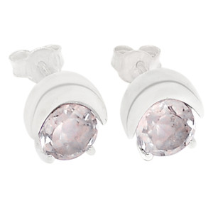 Crystal 925 Sterling Silver Earrings Jewelry E2210WT