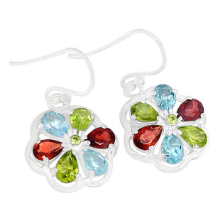 Multi 925 Sterling Silver Earrings Jewelry E2298MU