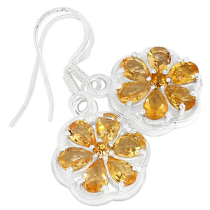 Citrine 925 Sterling Silver Earrings Jewelry E2298C