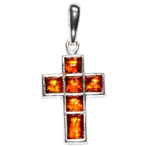 2.6g Authentic Baltic Amber 925 Sterling Silver Pendant Jewelry A1644