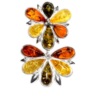 4g Authentic Baltic Amber 925 Sterling Silver Pendant Jewelry A1718