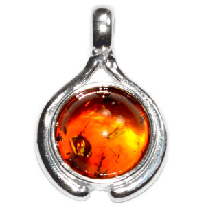 1.2g Authentic Baltic Amber 925 Sterling Silver Pendant Jewelry A1892