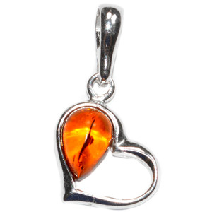 1.2g Authentic Baltic Amber 925 Sterling Silver Pendant Jewelry A1957