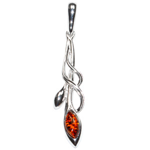 2.5g Authentic Baltic Amber 925 Sterling Silver Pendant Jewelry A370