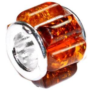 3.1g Authentic Baltic Amber 925 Sterling Silver Charm Jewelry A480