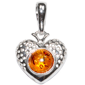 1.8g Authentic Baltic Amber 925 Sterling Silver Pendant Jewelry A570