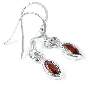 Garnet 925 Sterling Silver Earrings Jewelry E2313G