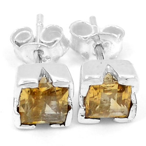 Citrine 925 Sterling Silver Earrings Jewelry E2334C