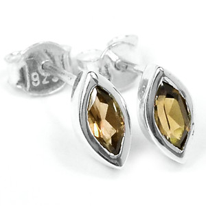 Smokey Quartz 925 Sterling Silver Earrings Jewelry E2319S