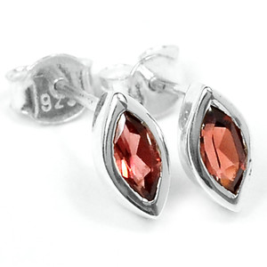 Garnet 925 Sterling Silver Earrings Jewelry E2319G