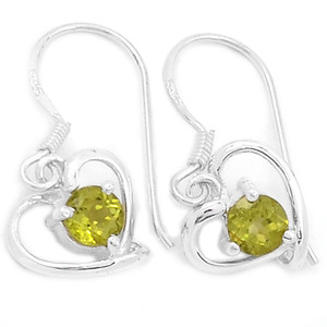 Peridot 925 Sterling Silver Earrings Jewelry E2314P