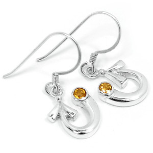 Citrine 925 Sterling Silver Earrings Jewelry E2309C