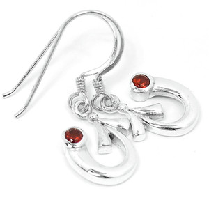 Garnet 925 Sterling Silver Earrings Jewelry E2309G