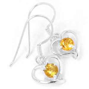 Citrine 925 Sterling Silver Earrings Jewelry E2314C