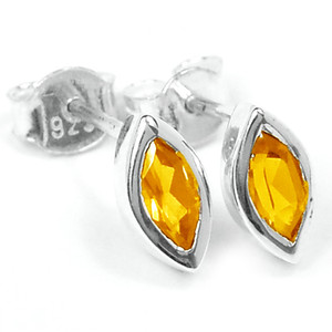Citrine 925 Sterling Silver Earrings Jewelry E2319C