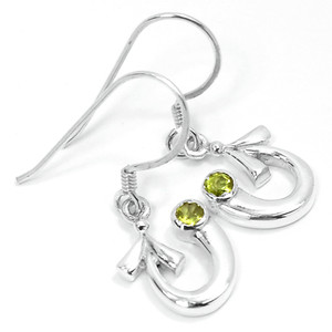 Peridot 925 Sterling Silver Earrings Jewelry E2309P