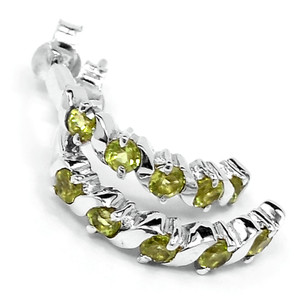 Peridot 925 Sterling Silver Earrings Jewelry E2310P