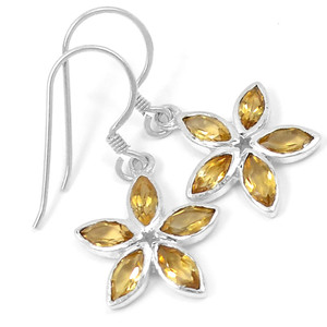 Citrine 925 Sterling Silver Earrings Jewelry E2328C